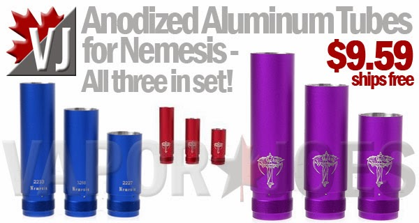 Anodized Aluminum Tubes for Nemesis Mechanical Mod
