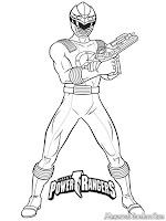 Halaman Mewarnai Gambar Power Ranger Terbaru
