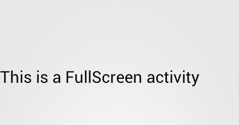 how to make screen full screen