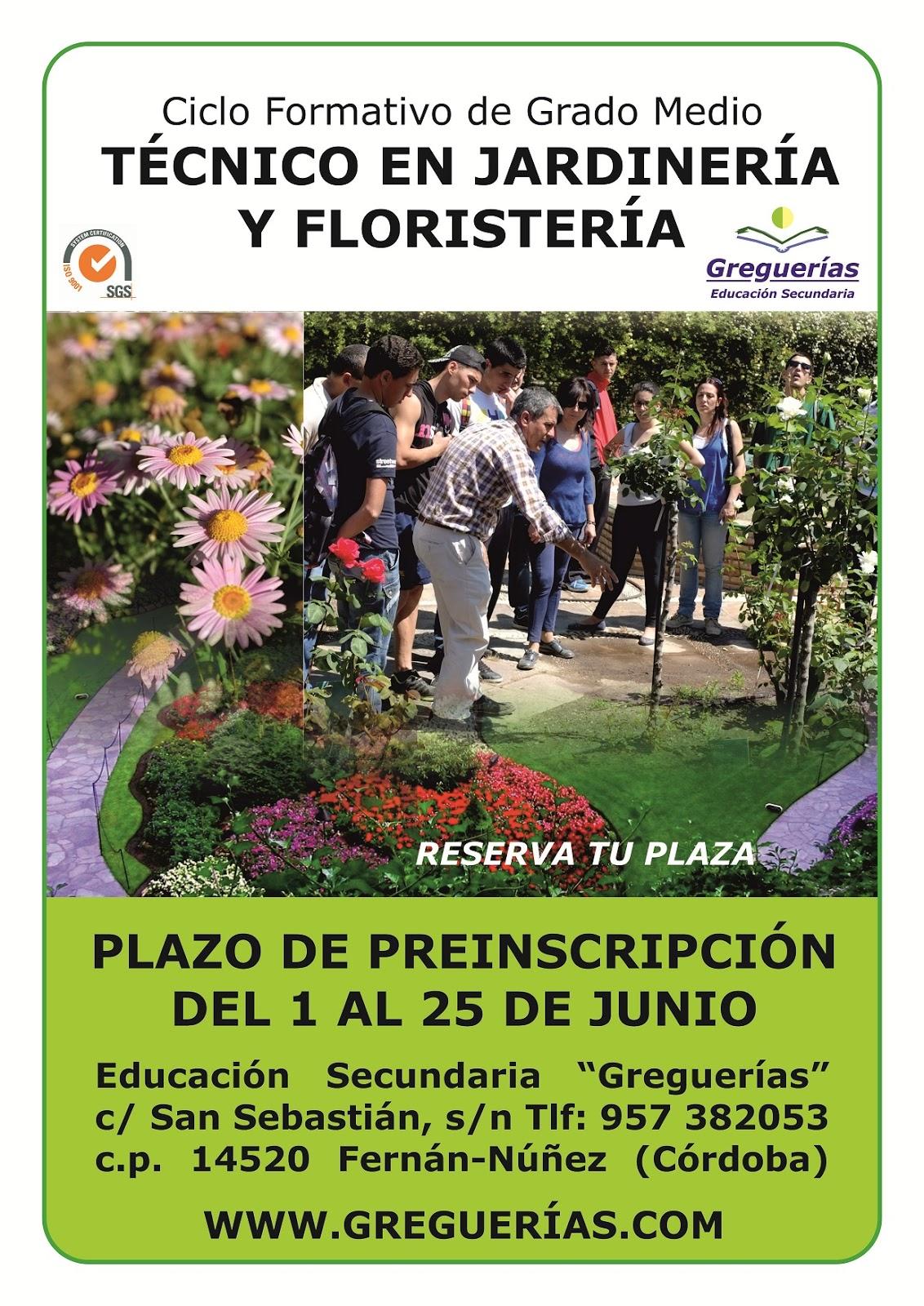 Centro docente privado greguerias oferta de ciclos formativos for Estudiar jardineria