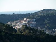 Sant Climent de Llobregat des del camí del Coll de la Creu de Querol