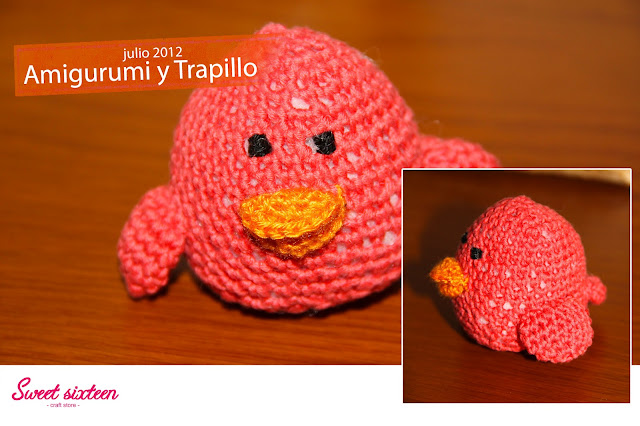 Taller Amigurumi y trapillo Sweet sixteen, craft store. Julio 2012. Madrid.