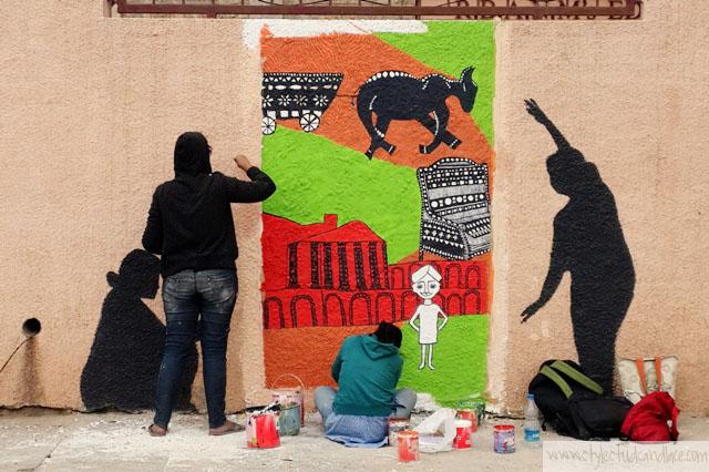 Street art by Shristi School or art design technology