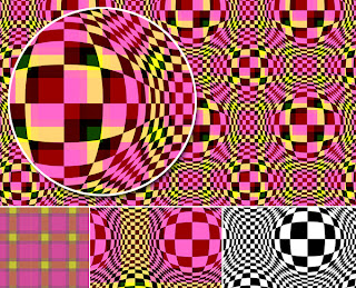 Plaid Op Art Surface Design by Kim Buchheit