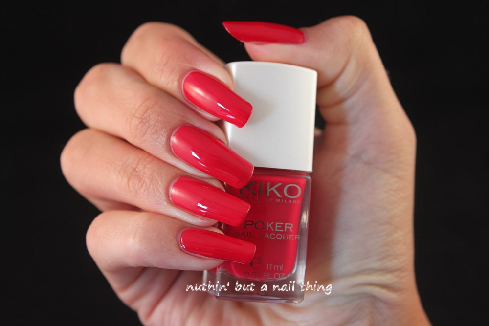 Kiko Poker Nail Lacquer - Suggestive Red