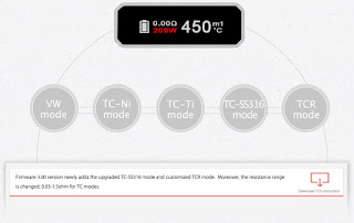 http://www.wismec.com/download/TCR_mode_instruction_for_RX200.zip