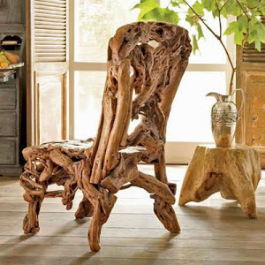 kursi akar kayu unik