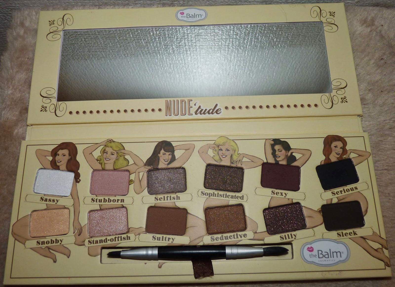 palette maquillage, palette ombre à paupière, palette fard à paupières, ombre à paupières nude, The balm