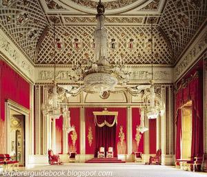 Inside Buckingham Palace Throne Room