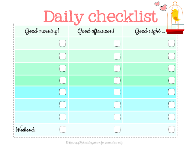 raising up rubies blog back to school checklist free