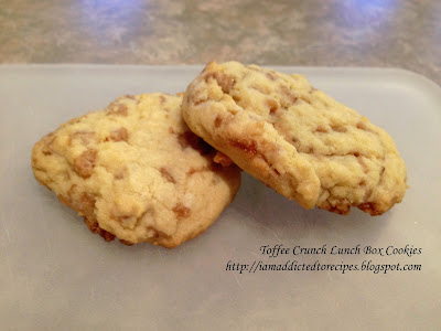 My hubby's favourites! Toffee Crunch Lunch Box Cookies