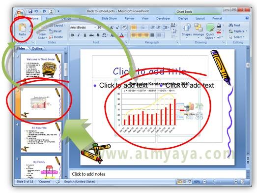 Gambar:  Cara paste  chart di microsoft powerpoint