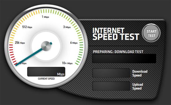 test velocidad conexion a internet:
