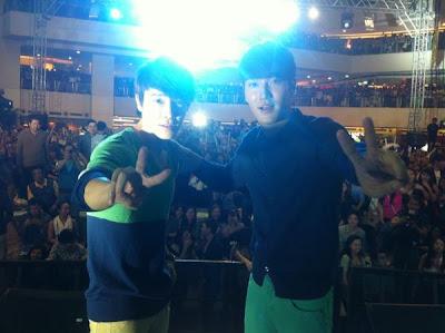 Siwon Donghae Bench Trinoma Mall Show photo