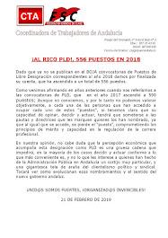 ¡AL RICO PLD!, 556 PUESTOS EN 2018