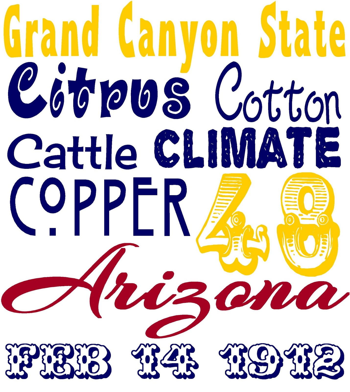 The creative cubby happy arizona statehood day