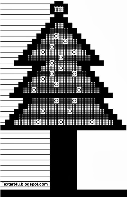christmas trees ascii art for facebook comments