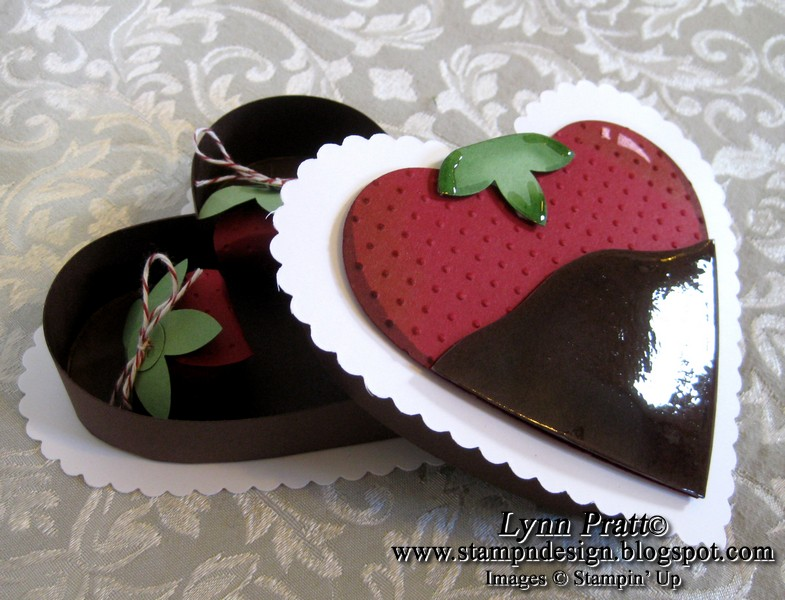 Chocolate Covered Strawberry Cards Box Stamp N Design Store