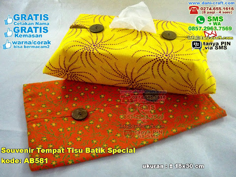 Souvenir Tempat Tisu Batik Special