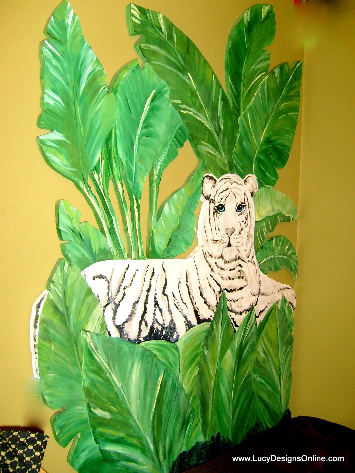 plywood animal theme headboard