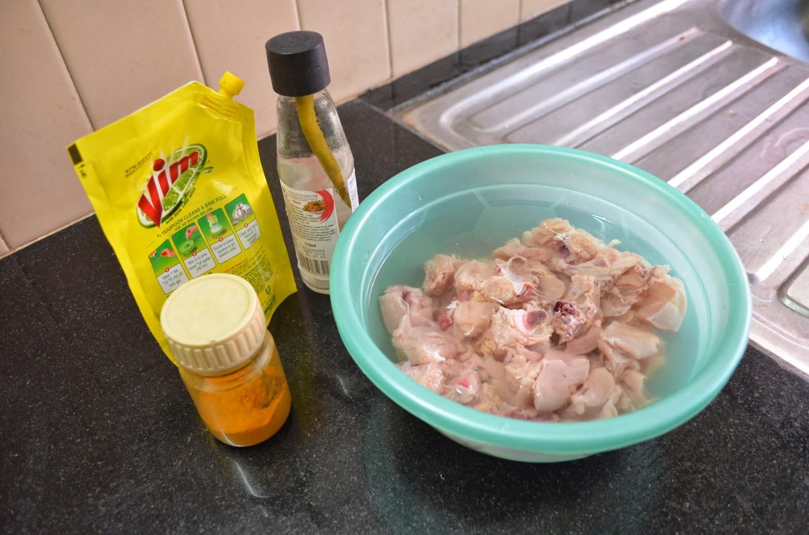 Cleaning Chicken