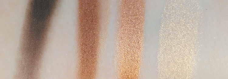 Max Factor 03 sumptious golds Shadow quads pudrijera swatch review
