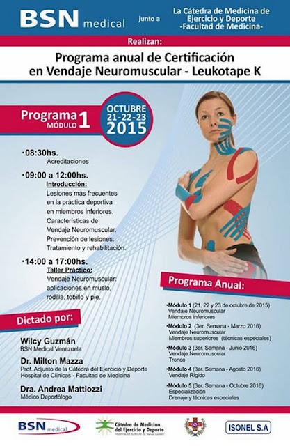 Programa anual de certificación en vendaje neuromuscular (Montevideo, 21a23/oct/2015)