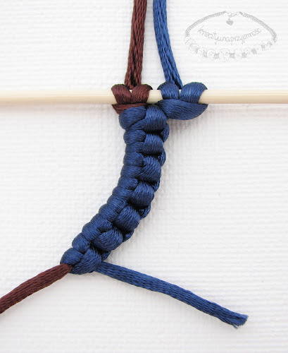 Węzeł frywolitkowy - makrama - 12