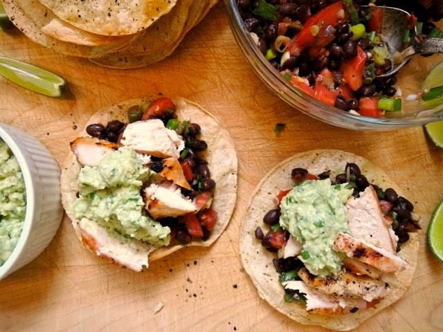 The Briny Lemon: Grilled Chicken Tostadas with Black Bean Salsa and ...