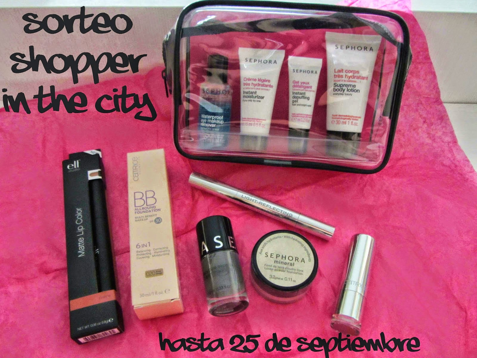 SORTEO 4º CUMPLEBLOG en SHOPPER IN THE CITY