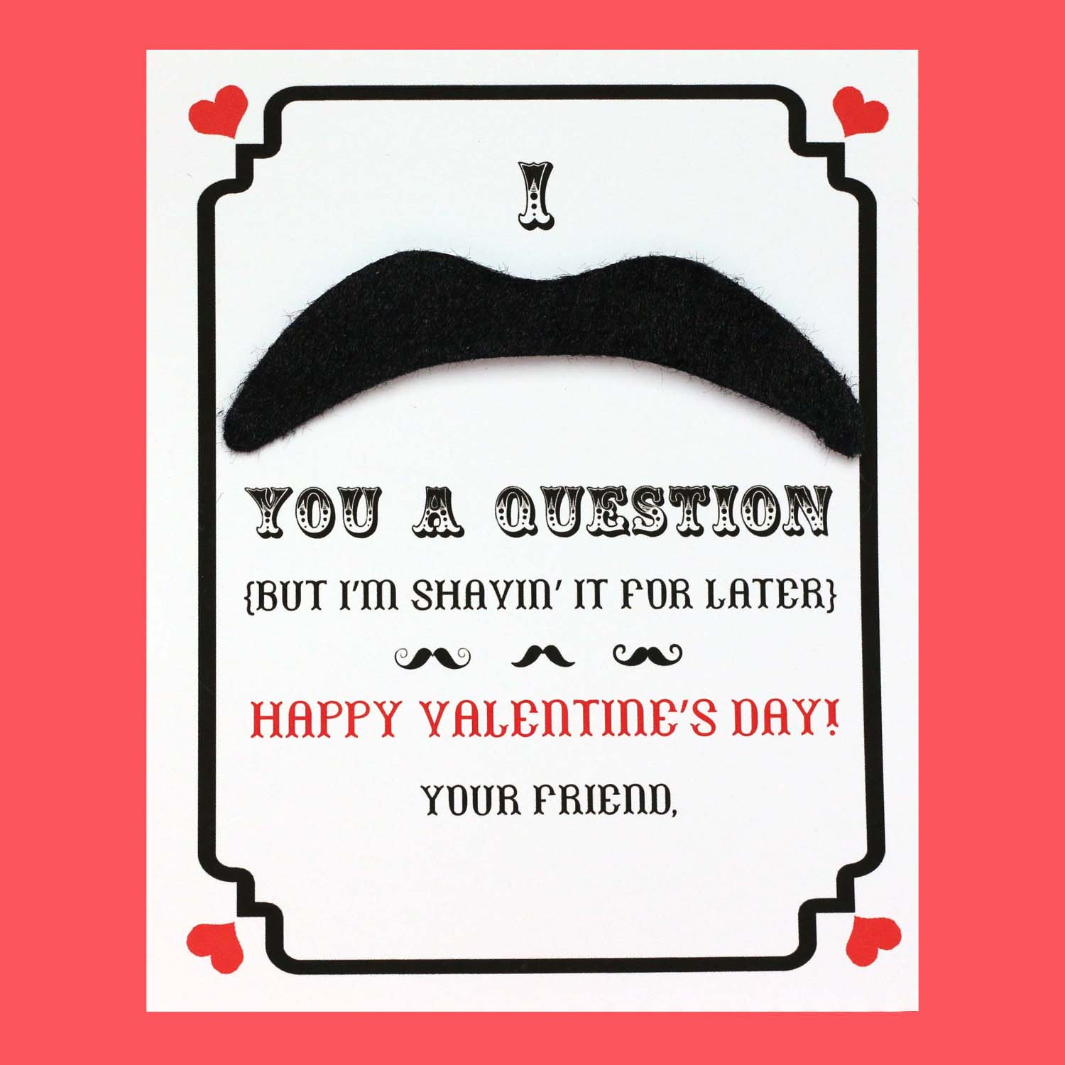Make Mustache Valentines Day Cards Free Printable – Mustache Valentine Cards