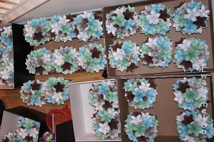 Lwadamelon Diy Wedding Crafts Origami Flower Centerpieces