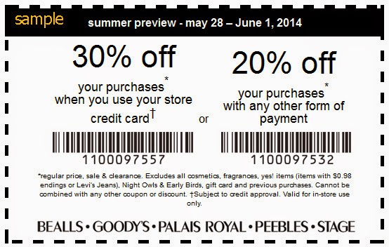 Bealls florida coupons