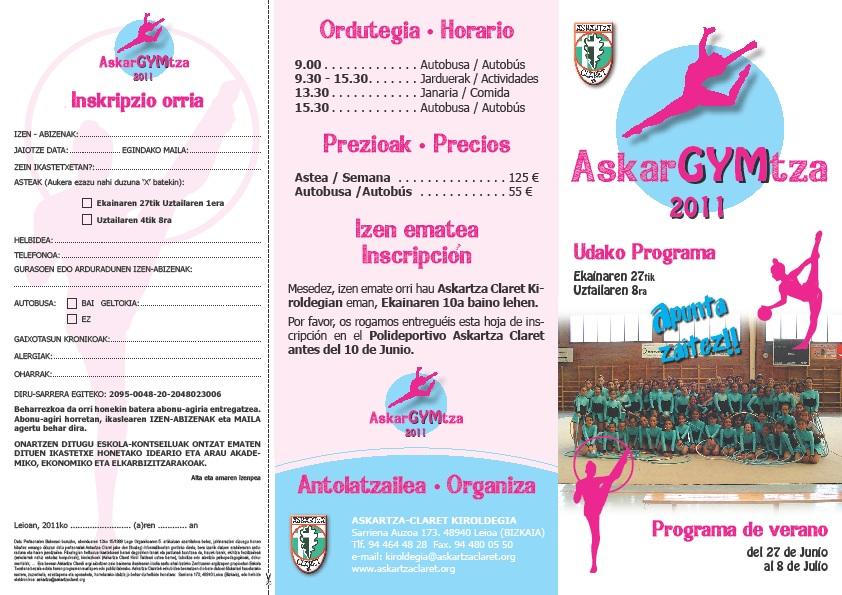 Askartza gimnasia ritmica campus de verano askargymtza for Gimnasia informacion