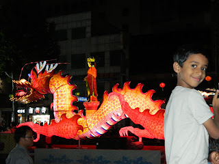 Big dragon lantern at the lotus lantern festival