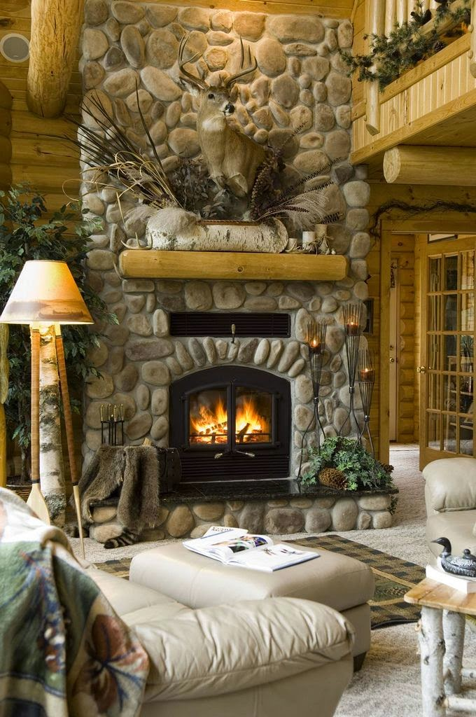 20 ideas de decoraci n de salas r sticas en fotos - Poner chimenea en casa ...