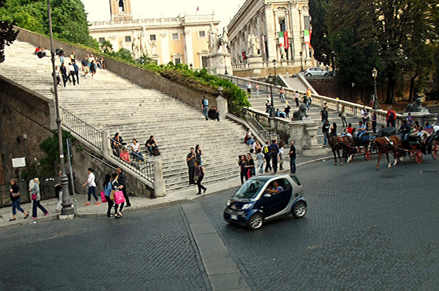 tourists and people in Rome