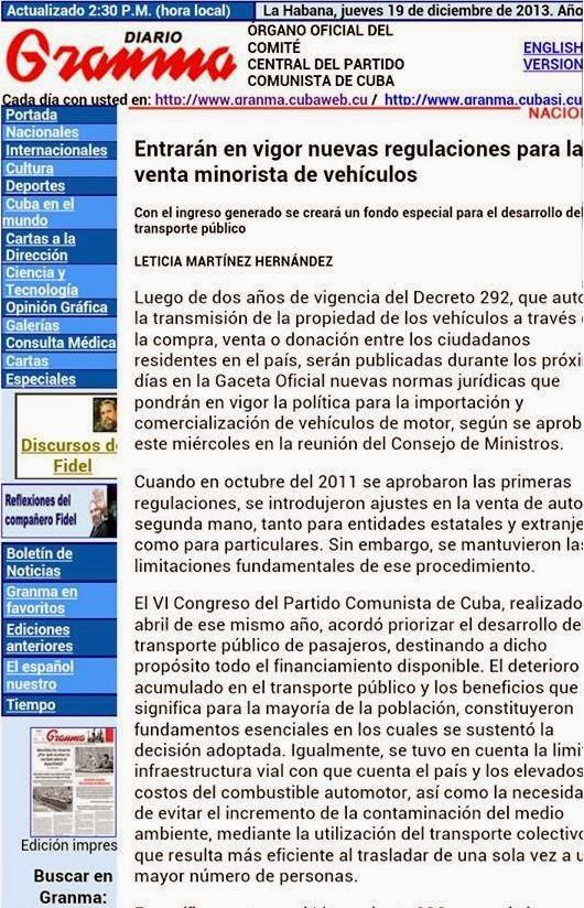 Periódico-Granma-Cuba-Autos-Nuevos