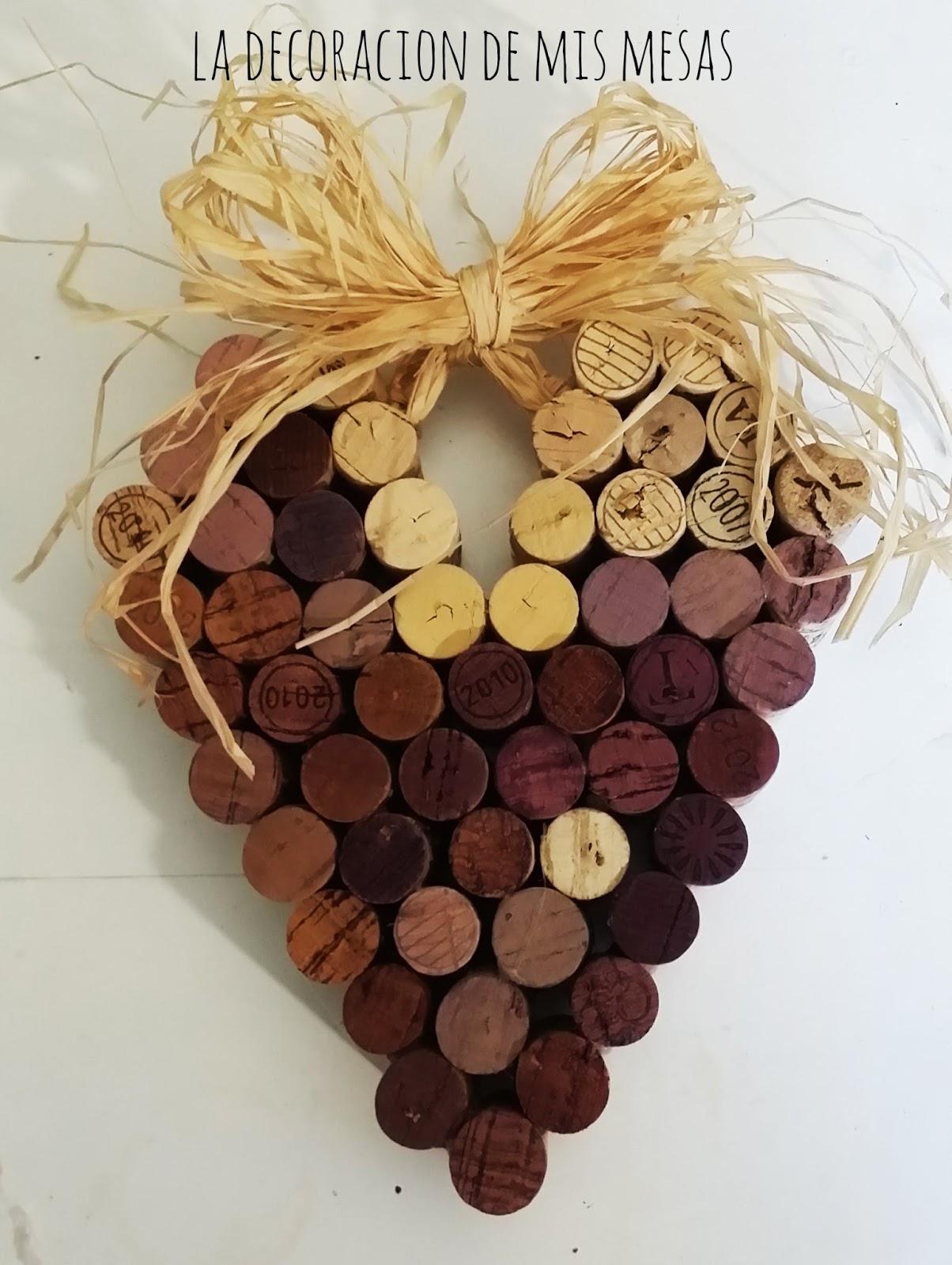 DIY: Corazón de corchos de vino.