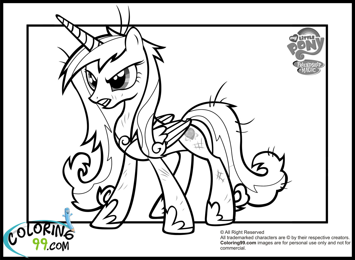 Princess Cadence Coloring Pages Team Colors Princess Cadence Coloring Page Printable