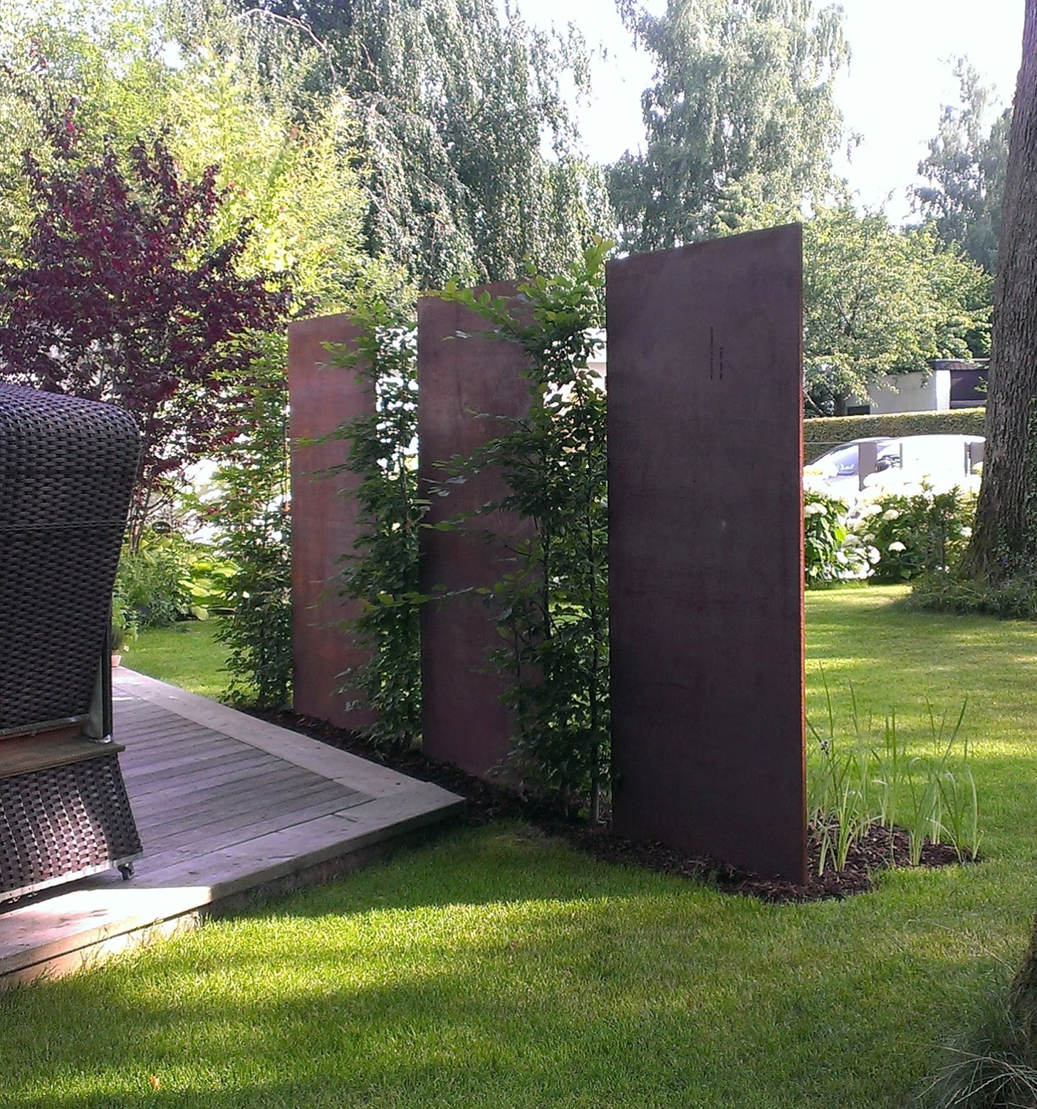 fr bel metallbau cortenstahl patinax wand garten. Black Bedroom Furniture Sets. Home Design Ideas