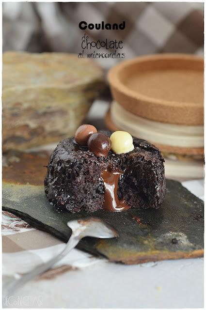 Couland de chocolate al microondas
