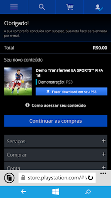 Como baixar demo de FIFA 16 PS3