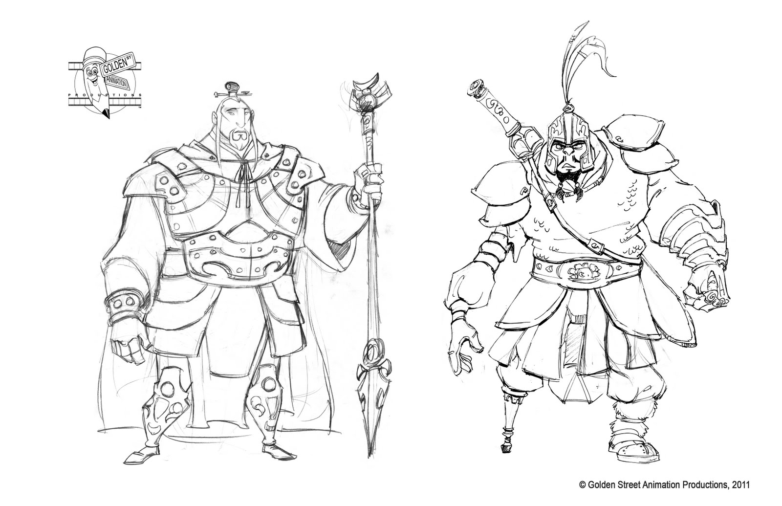 Character Design Work : Character designs by golden street animation
