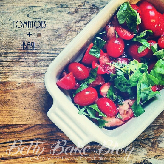 betty bake, tomato, basil, yum, healthy living, choices, gluten free, delicious, blog, south africa