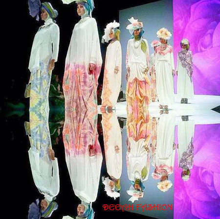 Busana Muslim Warna Pastel Trend Lebaran 2013