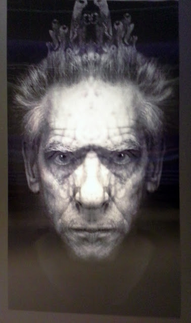 David Cronenberg Evolution Exhibit at TIFF Lightbox in Toronto Film director writer producer props costumes naked lunch art movies face morphing sign