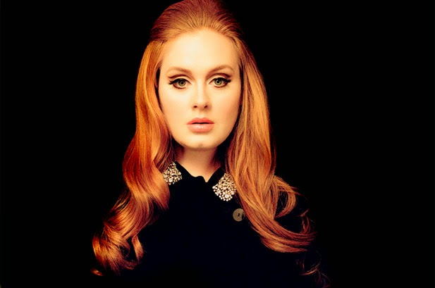 adele with long red hair