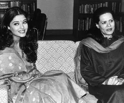 aishwarya rai miss world photos meeting with VIP personality Sonia Gandhi