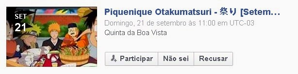 Evento no Facebook